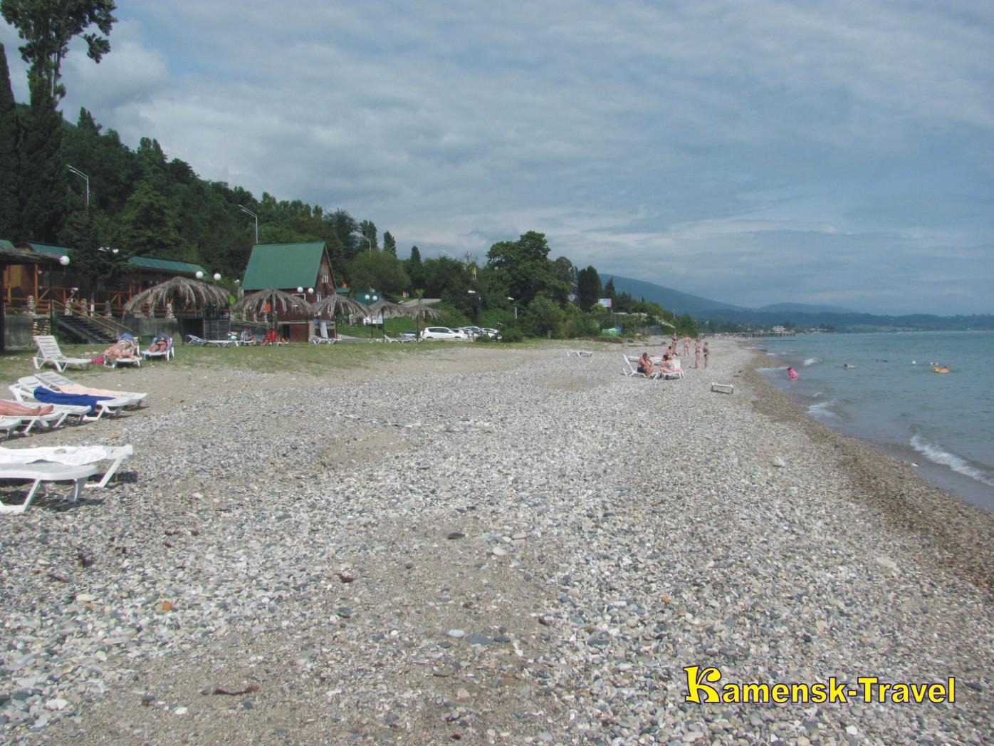 пляжи в новом афоне абхазии