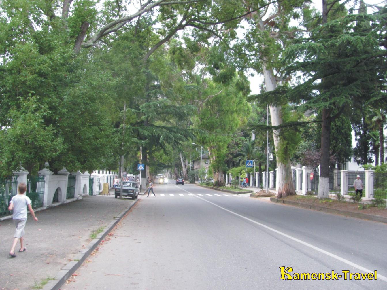 улицы в гаграх